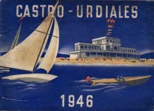 Portada del folleto de promoción turística de Castro Urdiales de 1946.