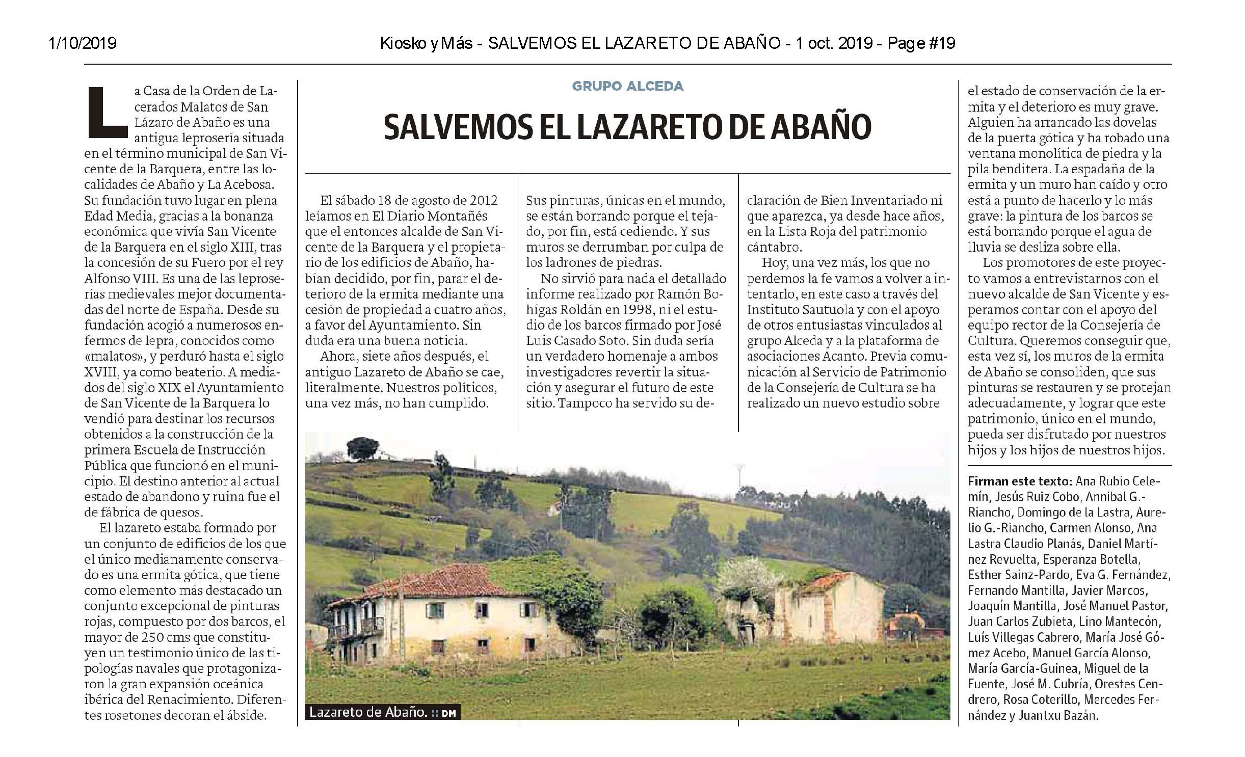 Tribuna Grupo Alceda, D Mont, Lazareto de Abaño (1 oct 2019)